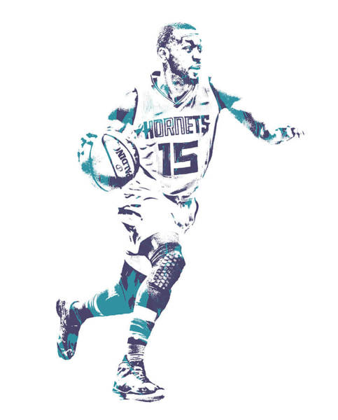 Wall Art - Mixed Media - Kemba Walker Charlotte Hornets Pixel Art 100 by Joe Hamilton