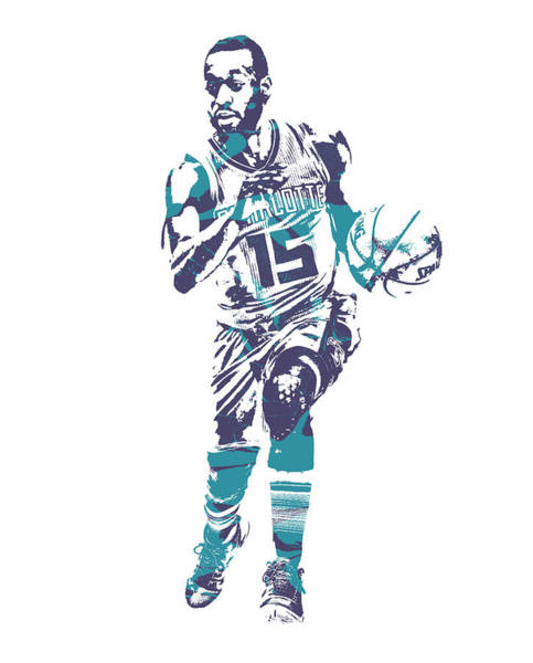 Wall Art - Mixed Media - Kemba Walker Charlotte Hornets Pixel Art 50 by Joe Hamilton