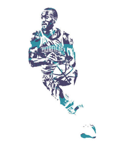 Wall Art - Mixed Media - Kemba Walker Charlotte Hornets Pixel Art 51 by Joe Hamilton