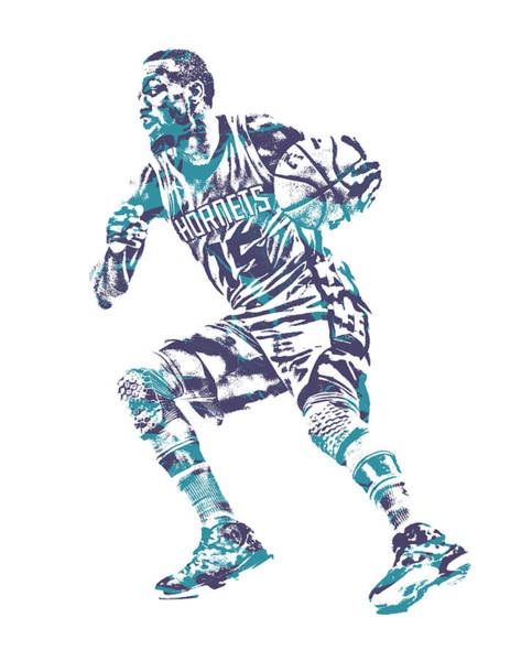 Wall Art - Mixed Media - Kemba Walker Charlotte Hornets Pixel Art 52 by Joe Hamilton