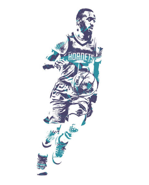 Wall Art - Mixed Media - Kemba Walker Charlotte Hornets Pixel Art 53 by Joe Hamilton