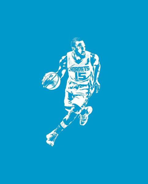Wall Art - Mixed Media - Kemba Walker Charlotte Hornets T Shirt Apparel Pixel Art 4 by Joe Hamilton