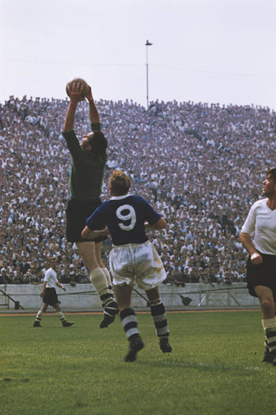 Photograph - Ken Grieves Makes A Save by Bert Hardy