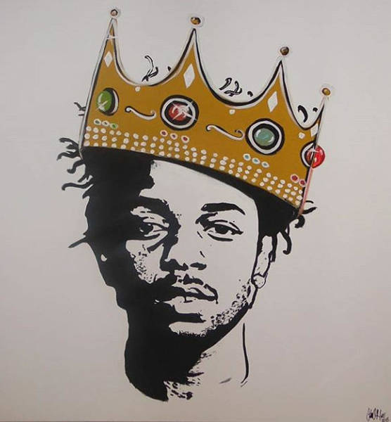 Painting - Kendrick The King by Antonio Moore