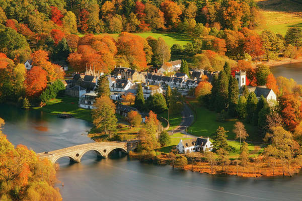 Wall Art - Photograph - Kenmore In Autumn, Perthshire, Scotland by Guy Edwardes