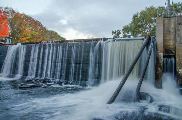 Photograph - Kennebunk Maine - Mousam River Dam  by Bill Cannon