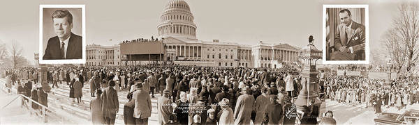 Wall Art - Photograph - Kennedy Inauguration, U.s. Capitol by Fred Schutz Collection