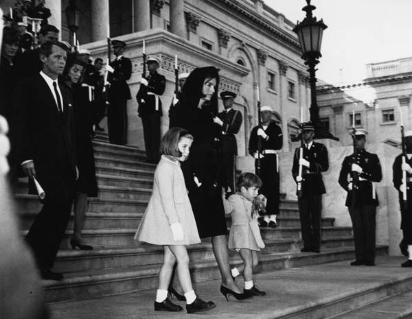 Honor Guard Photograph - Kennedy Mourners by Central Press