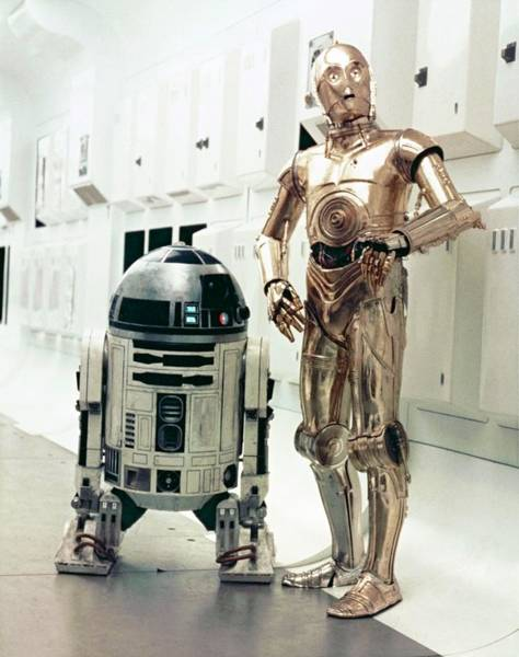 Episode Iv Wall Art - Photograph - Kenny Baker And Anthony Daniels In Star Wars Episode Iv-a New Hope -1977-. by Album