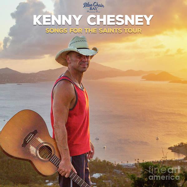 Wall Art - Drawing - Kenny Chesney Tour 2019 by Samantha Guzman