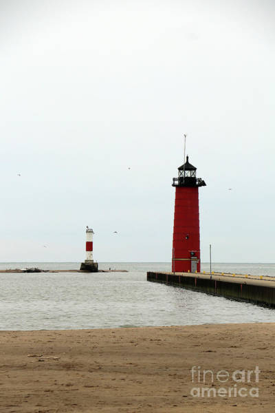 Wall Art - Photograph - Kenosha North Pier Light by Christiane Schulze Art And Photography