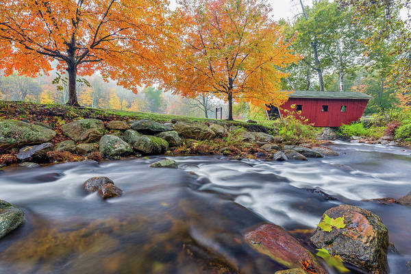 Photograph - Kent Falls Autumn 2018 by Bill Wakeley