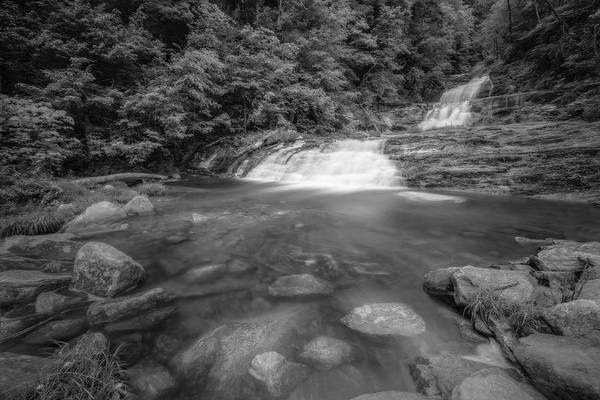 Photograph - Kent Falls Sp Ct Bw by Susan Candelario