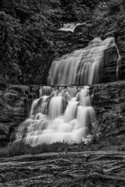 Photograph - Kent Falls State Park Ct Bw by Susan Candelario