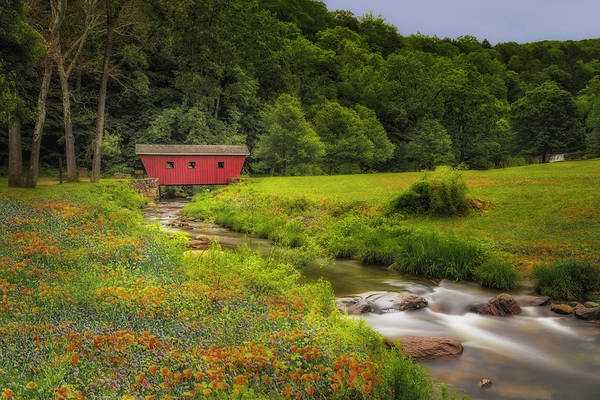 Wall Art - Photograph - Kent Waterfalls Covered Bridge by Susan Candelario