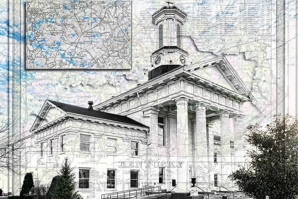 Photograph - Kentucky Travel Map Richmond by Sharon Popek