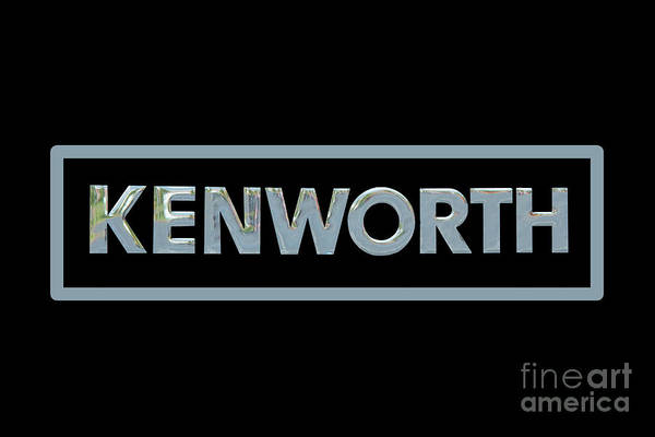 Wall Art - Photograph - Kenworth Semi Truck Emblem And Logo Black by Nick Gray