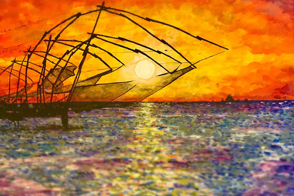 Painting - Kerala Sunset by Joel Tesch