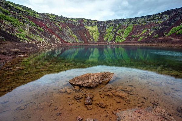 Photograph - Kerid Crater Lake Iceland by Pierre Leclerc Photography
