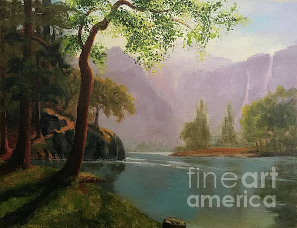 Painting - Kern's River Valley, California by Acrylic Beginner's Class