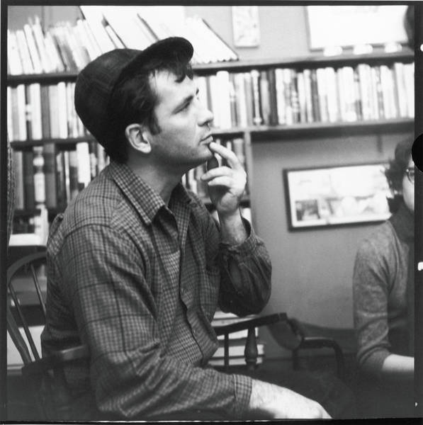 Poetry Photograph - Kerouac At Mcdarrahs Apartment by Fred W. McDarrah