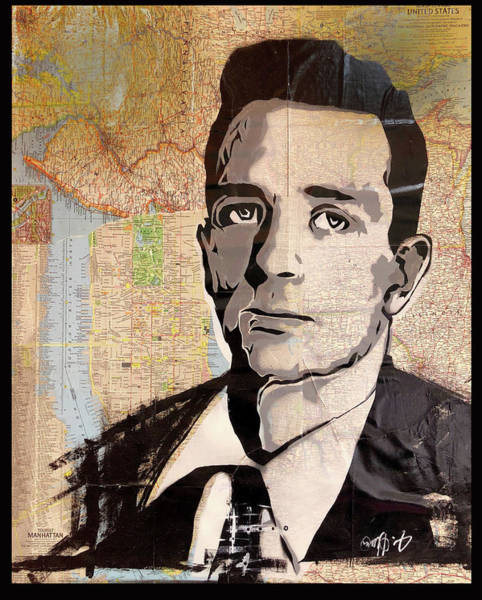 Painting - Kerouac by J Hume