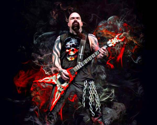 Jeff Hanneman Wall Art - Digital Art - Kerry King Portrait  by Scott Wallace Digital Designs