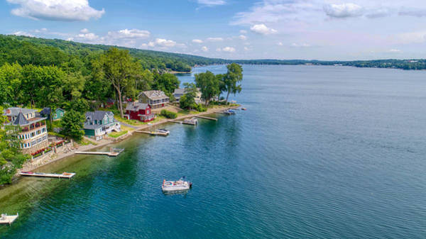 Photograph - Keuka Boat Day by Ants Drone Photography