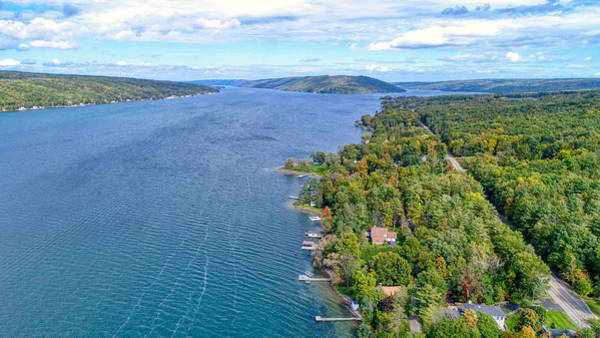 Photograph - Keuka Center Point by Ants Drone Photography