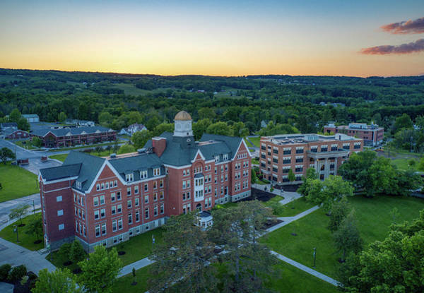 Photograph - Keuka College Sunset 2019 by Ants Drone Photography