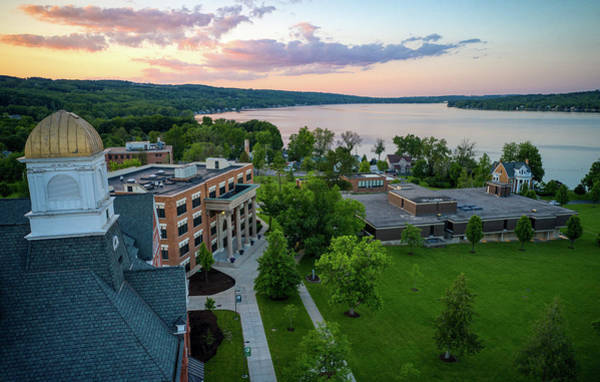 Photograph - Keuka College Sunset June 2019 by Ants Drone Photography