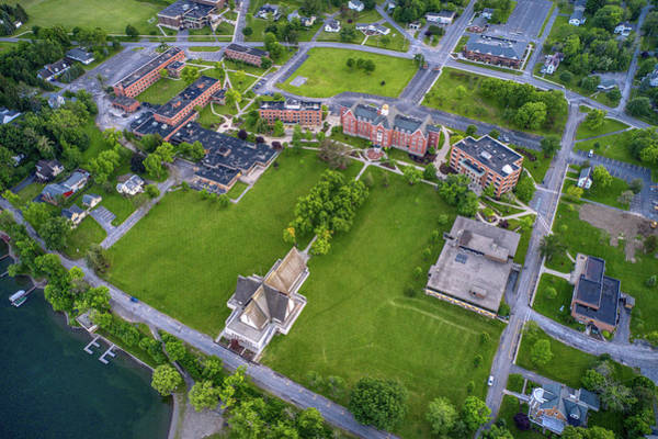 Photograph - Keuka College Top Down View Upstate New York  by Ants Drone Photography