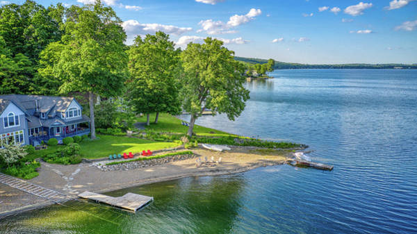Photograph - Keuka Lake Cottage June 2019 by Ants Drone Photography