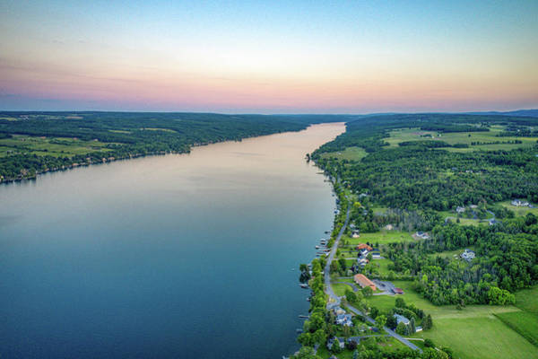 Photograph - Keuka Lake South Sunset by Ants Drone Photography