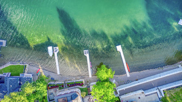 Photograph - Keuka Lake Top Down Summer 2019 by Ants Drone Photography
