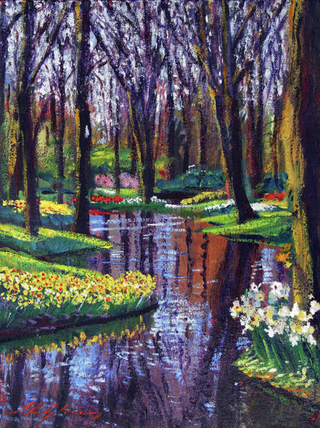 Painting - Keukenhof Park In Spring by David Lloyd Glover