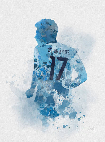 Belgium Mixed Media - Kevin De Bruyne by My Inspiration