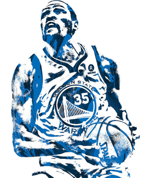 Wall Art - Mixed Media - Kevin Durant Golden State Warriors Pixel Art 200 by Joe Hamilton