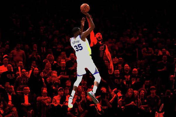Mavericks Mixed Media - Kevin Durant Smooth Jumper by Brian Reaves