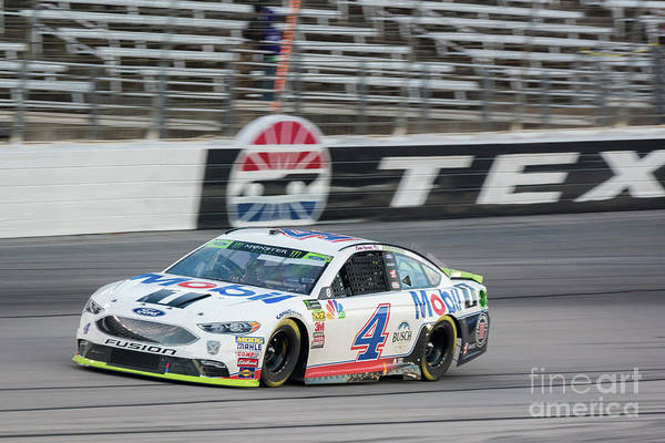 Photograph - Kevin Harvick Coming Out Of Turn 4 by Paul Quinn