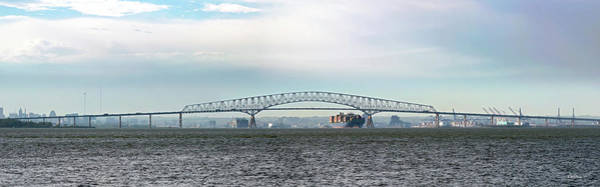 Wall Art - Photograph - Key Bridge Baltimore Md by Brian Wallace