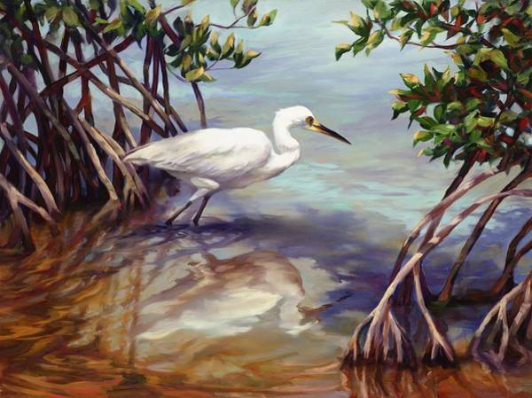 White Ibis Wall Art - Painting - Key West Breakfast  by Laurie Snow Hein