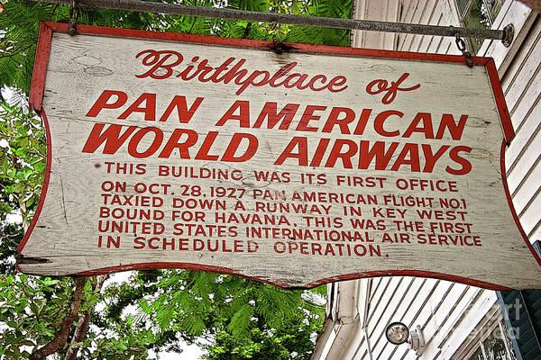 Wall Art - Photograph - Key West Florida - Pan American Airways Birthplace by John Stephens