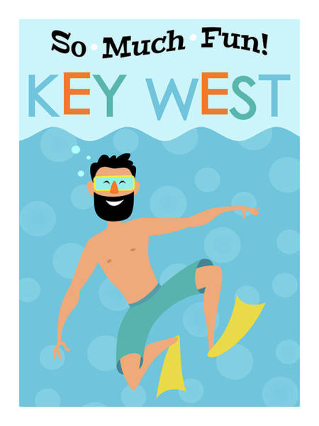 Wall Art - Digital Art - Key West Fun Hipster Travel by Flo Karp