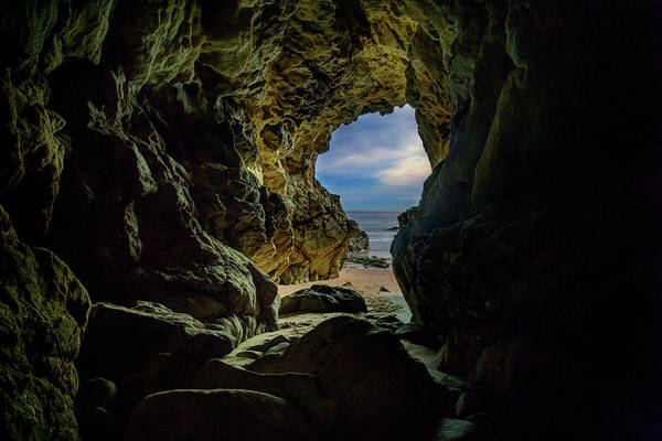 Photograph - Keyhole Cave In Malibu by John Rodrigues