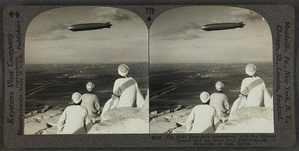 Painting - Keystone View Company American, 1892-1963 Graf Zeppelin's Rendezvous With The Eternal Desert And The by Celestial Images