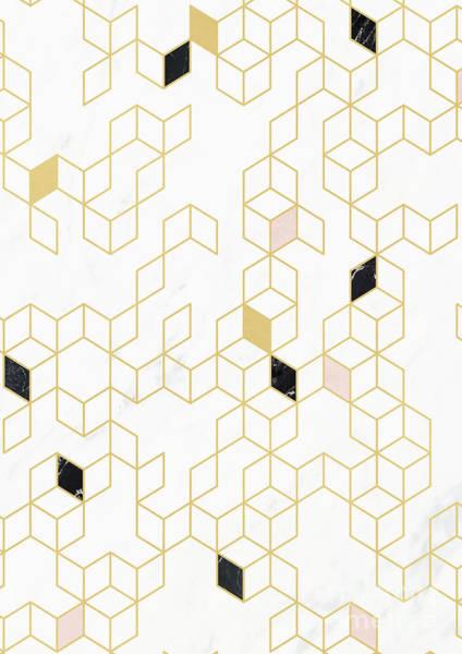Wall Art - Digital Art - Keziah Gold And Marble by Florent Bodart