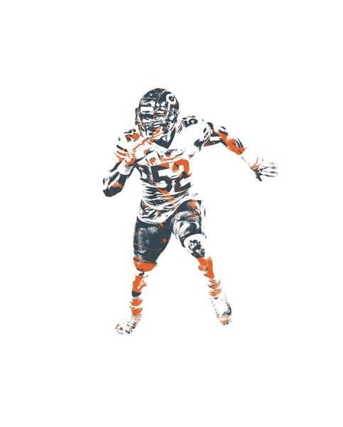 Wall Art - Mixed Media - Khalil Mack Chicago Bears Apparel T Shirt Pixel Art 1 by Joe Hamilton