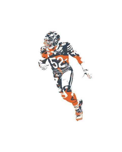 Wall Art - Mixed Media - Khalil Mack Chicago Bears Apparel T Shirt Pixel Art 2 by Joe Hamilton