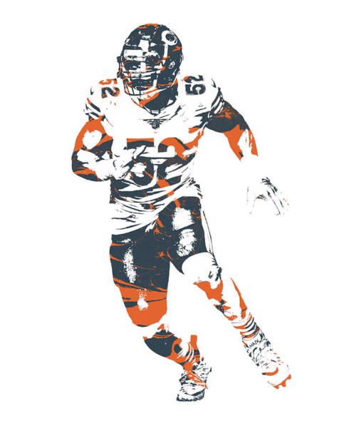 Wall Art - Mixed Media - Khalil Mack Chicago Bears Pixel Art 200 by Joe Hamilton